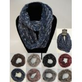 24 Units of Knitted Infinity Scarf [Braided Knit] - Winter Scarves