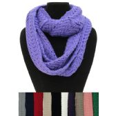 24 Units of Knitted Infinity Scarf [Chevron Knit] - Winter Scarves