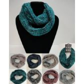24 Units of Knitted Infinity Scarf [Wide Knit] - Winter Scarves