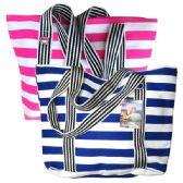 48 Units of Fashion Bag Large Stripes - Shoulder Bag/ Side Bag