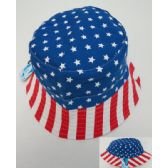 24 Units of Bucket Hat [American Flag] - Bucket Hats