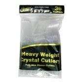 96 Units of Plastic Cutlery Clear 36CT Combo - Disposable Cutlery