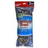 48 Units of Stainless Steel Scourer 3PK Jumbo - Scouring Pads & Sponges