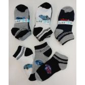 240 Units of Boy's Printed Anklet Socks 6-8 [Cars] - Boys Ankle Sock