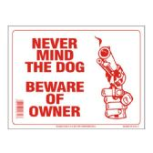120 Units of Sign 9in x 12in Beware of Owner - Signs & Flags