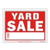 96 Units of Sign 9in x 12in Yard Sale - Signs & Flags