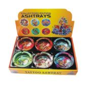 48 Units of Ashtray Glass Tattoo - Ashtrays(Plastic/Glass)