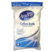 96 Units of Amoray Cotton Balls 300CT Regular - Cotton Balls & Swabs