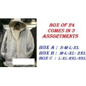 24 Units of Adult Hoodie Sweatshirt With Fleece Lining In S-M-L-XL - Mens Sweat Shirt