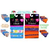 72 Units of FRUIT OF THE LOOM 3 PACK MIX STYLES GIRLS PANTIES - Girls Underwear and Pajamas