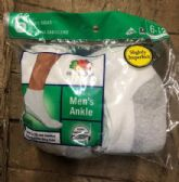 180 Units of FRUIT OF THE LOOM ANKLE SOCK IN WHITE SHOE SIZE 6-12 - Womens Ankle Sock