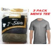 28 Units of FRUIT LOOM /HANES 3PK MEN COLOR CREW TEE / FAMOUS BRAND PACKAGING - Mens T-Shirts
