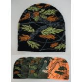 12 Units of Knitted Beanie [Assorted Hardwoods Camo]