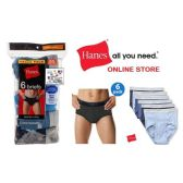 48 Units of HANES 6PK MEN BRIEFS W/COMFORTFLEX WAISTBAND (SLIGHTLY IMPERFECT)