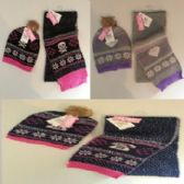 24 Units of WINTER 2 PIECE HAT AND SCARF SET - Winter Sets Scarves , Hats & Gloves