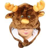 36 Units of Winter Animal Hat Reindeer