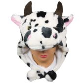 36 Units of Winter Cow Animal Hat