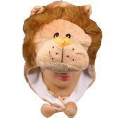 36 Units of Winter Animal Hat Lion