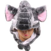 36 Units of Winter Animal Hat Elephant