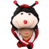 36 Units of Winter Animal Hat Lady Bug