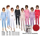 36 Units of Woman s Winter Thermal Set (Waffle) By color - Womens Thermals