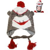24 Units of Knitted Winter Animal Hat Monkey