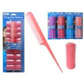 96 Units of 9 Piece Cling Hair Roller - Hair Rollers