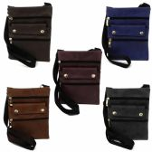 120 Units of MID SIZE CROSS BODY BAG IN ASSORTED SOLID COLOR PRINTS - Shoulder Bags & Messenger Bags