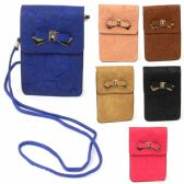 120 Units of DOUBLE POCKET CELL PHONE CROSS BODY BAG IN ASST COLORS - Shoulder Bags & Messenger Bags