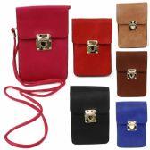 120 Units of DOUBLE POCKET CELL PHONE CROSS BODY BAG IN ASST COLORS - Shoulder Bag/ Side Bag