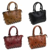 24 Units of DESIGNER INSPIRED HANDLE BAG IN ASST COLORS - Shoulder Bags & Messenger Bags