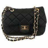 24 Units of DESIGNER INSPIRED QUILTED BAG IN BLACK - Shoulder Bag/ Side Bag