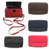 120 Units of 2 ZIPPER CELL PHONE WALLET WITH A WRISTLET & CROSS BODY STRAP IN ASST PRINTS - FITS UP TO I6 SIZE PHONES - Leather Purses and Handbags