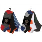 96 Units of Men's ankle socks in assorted styles size 10-13