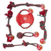 72 Units of Dog Toy Christmas Rope Chews - Christmas Novelties
