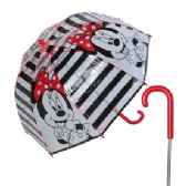 12 Units of Girls' Minnie Mouse umbrella with red rounded handle. - Umbrellas & Rain Gear