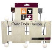 24 Units of Hanger Over Door Metal 6 Hook - Hooks/Hook Racks