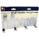 24 Units of Hanger Wall Home Metal 4 Hook - Hooks/Hook Racks