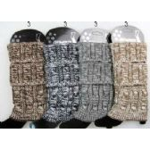 24 Units of Multi-color Cable Knitted Boot toppers Leg warmers Ast