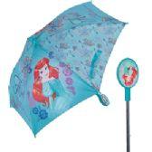 12 Units of Girls' The Little Mermaid Princess Ariel umbrella with a molded handle. - Umbrellas & Rain Gear