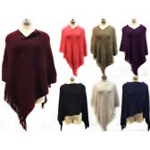 12 Units of knitted extreme soft poncho *assorted colors & one size fits most - Coats / Ponchos