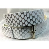 48 Units of Silver White Fashion Belt - Womans Belts