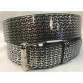 48 Units of Black Silver PU Fashion Belt - Unisex Fashion Belts