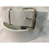 48 Units of Silver Printed PU Fashion Belt - Unisex Fashion Belts