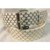 48 Units of Gold Belt PU Fashion belt - Womans Belts