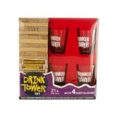 6 Units of Drink Tower Wooden Block Drinking Game - Dominoes & Chess