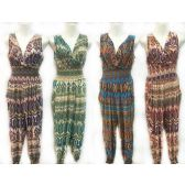 24 Units of Assorted Tribal Print Summer Romper Jumper Suits - Womens Rompers & Outfit Sets