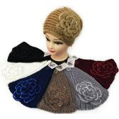 24 Units of Sequins Large Flower Headband Ear bands Assorted *12 pcs of Sequins large flower headband *extra thick *assorted colors