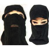 36 Units of Unisex Black Ski Hat/Mask Mesh Mouth Cover unisex black ski hats/masks *one size fits all