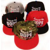 24 Units of Snap Back Flat Bill Sorry I'm Dope Hat Assorted Colors - Baseball Caps & Snap Backs